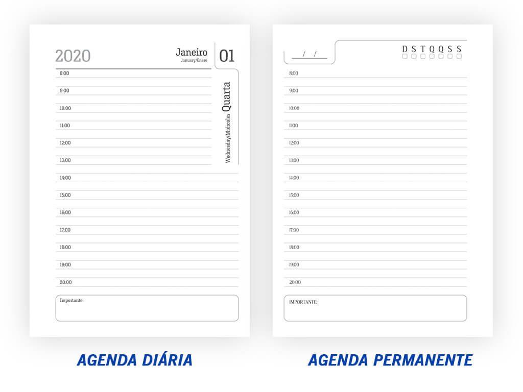 Agenda Diária e Agenda Permanente l Gráfica Cartão de Visita
