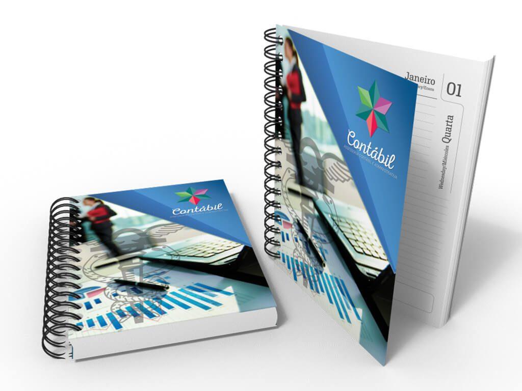 Agendas Personalizadas l Produto Final l Gráfica Cartão de Visita